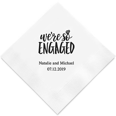 We`re Engaged Personlige Servietter