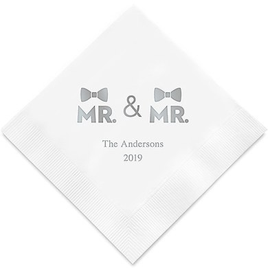 Mr & Mr Two Bows Personlig Serviett For Menn