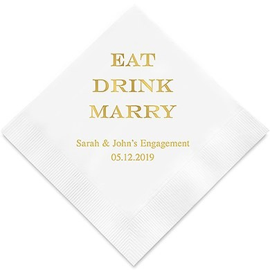 Eat Drink Marry Personlige Servietter