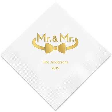 Mr & Mr Bow Personlige Servietter For Menn